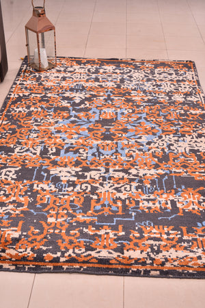 "Persian Area Rug Hand knotted Kilim Oriental persian kilim , Geometric Design Living Room Decor Rug,Kitchen Décor Area Rug 5'2"" x 8'2"" ,1514"