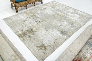 "Large Turkish Overdyed Faded beige Area Rug, Rustic Home Decor Rug, Oriental Living Room Rug, Hand crafted Floral Rug  9'9"" X 13'3"" SKU:1930"