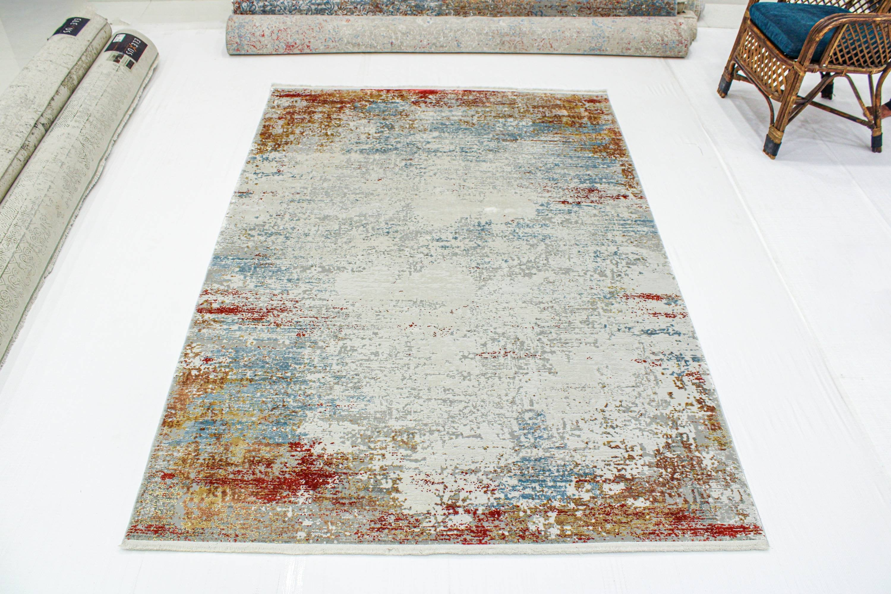 6x10 Distressed Overdyed Persian Area Rug, Living Room Rug, Room decor vintage Oriental Rug, kitchen decor Tribal Wool Rug, SKU:1945