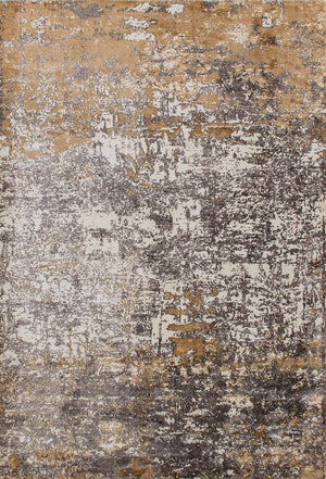 "Distressed Handwoven Modern Silk Area Rug ≡ Turkish Overdyed Living Room Area rug ≡ Antique Tribal Area Rug 5'3"" X 7'7"" Gray Rug  DN28062"