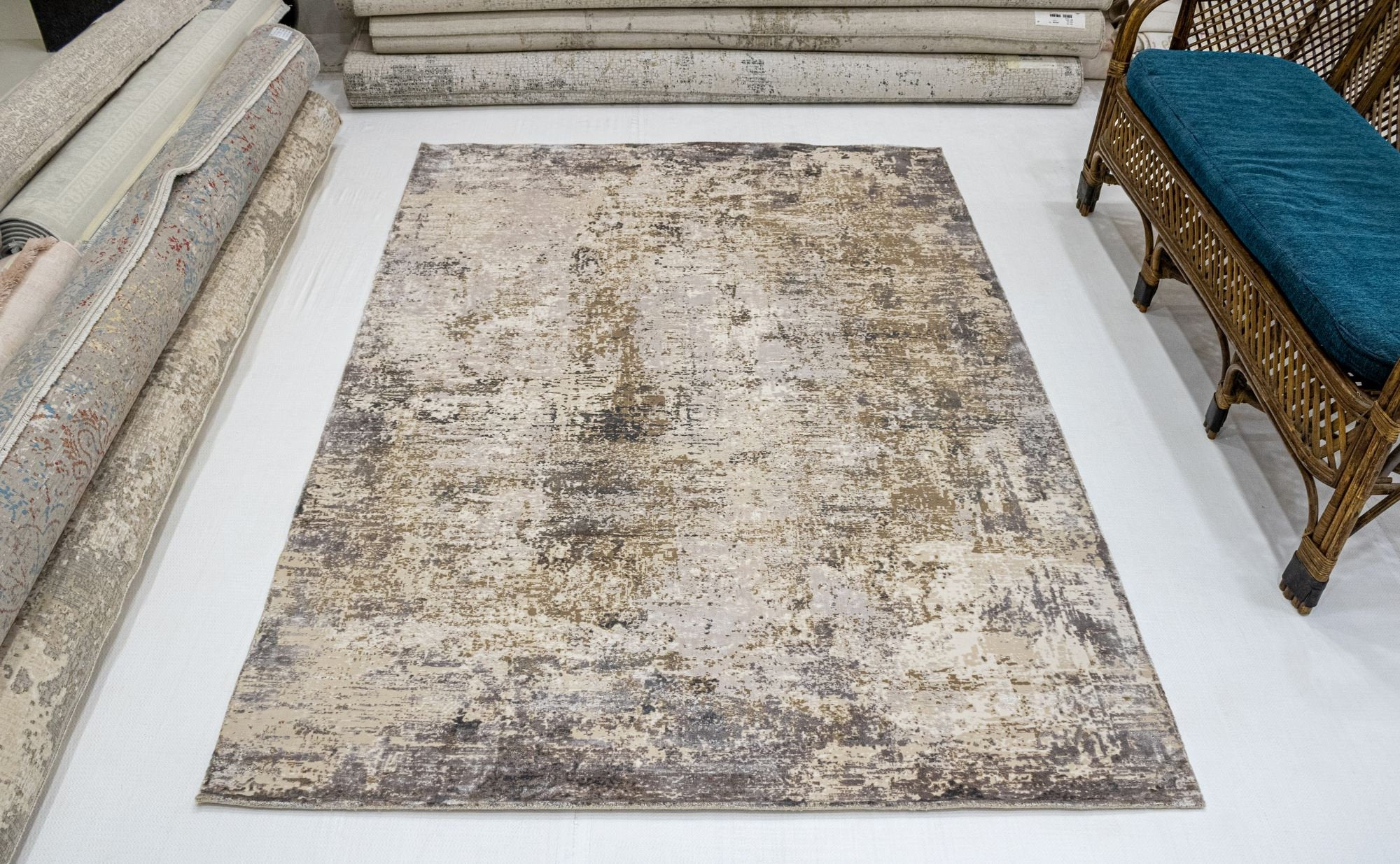 8x10 Large Living Room Overdyed faded area Rug, Vintage Home Decor Persian Rug,Rustic Oriental Rug, Hand knotted  Distressed  Rug,  SKU:1938