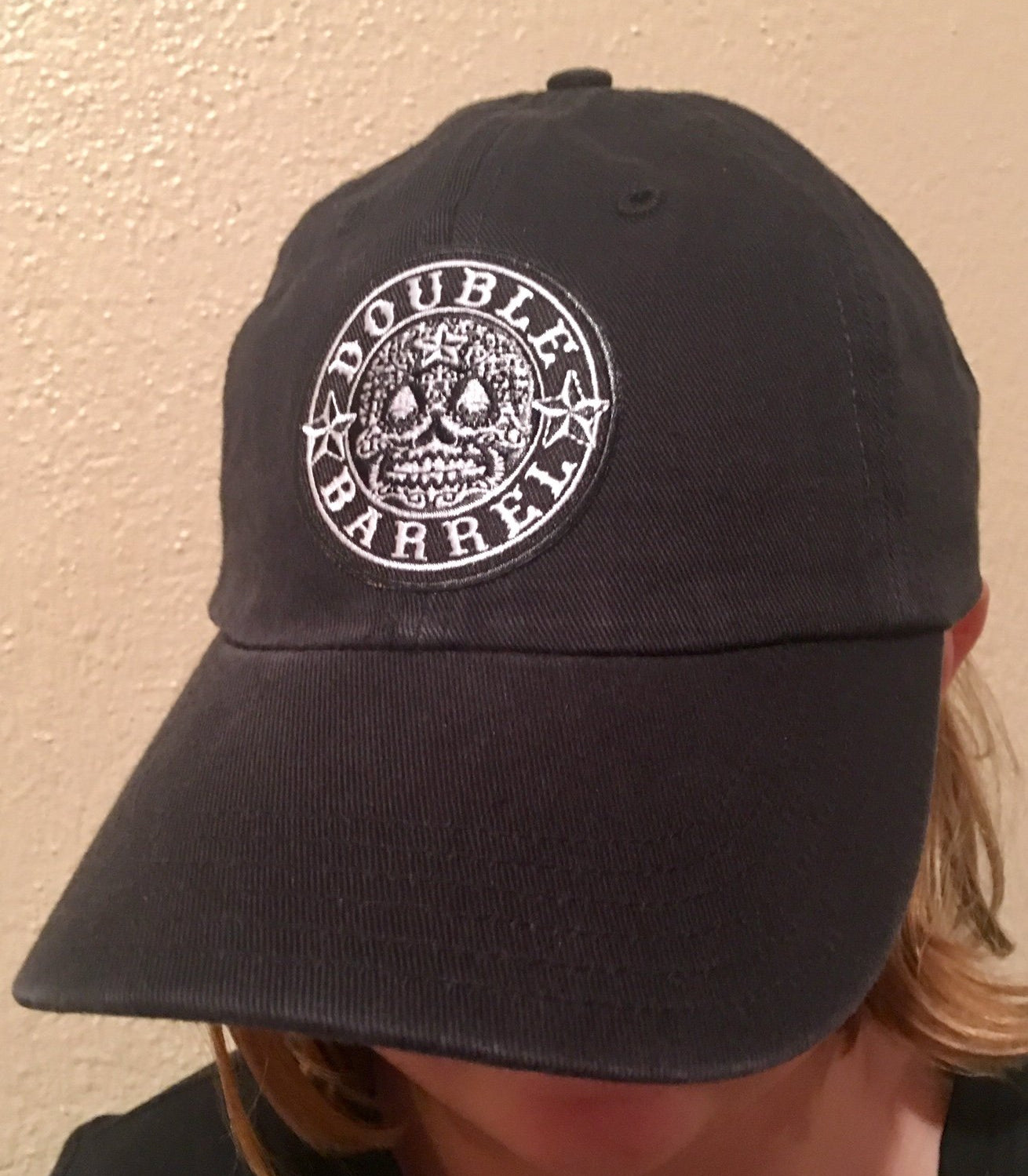 Double Barrel Unstructured Hat / BLACK