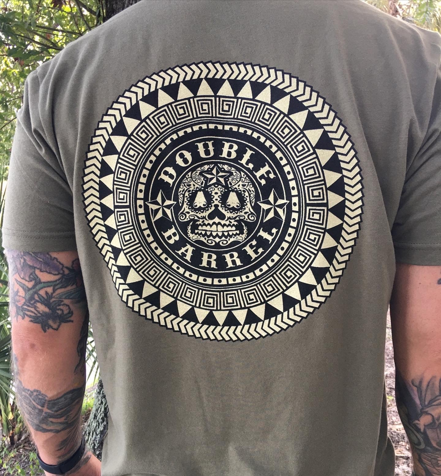 Double Barrel Mens Aztec Pocket tee
