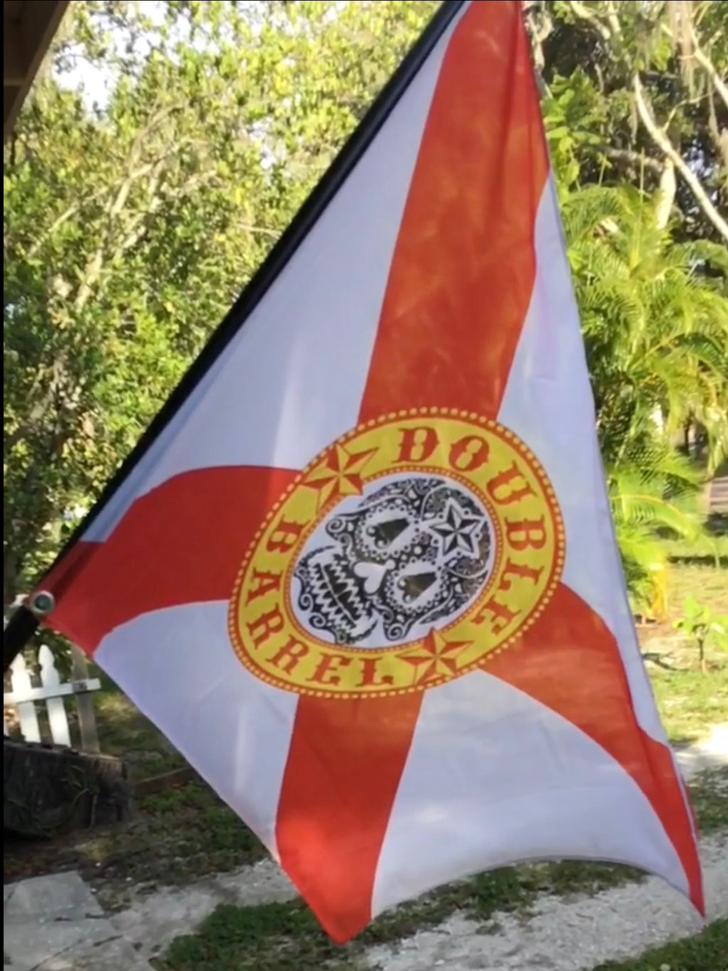 Double Barrel Florida Flag