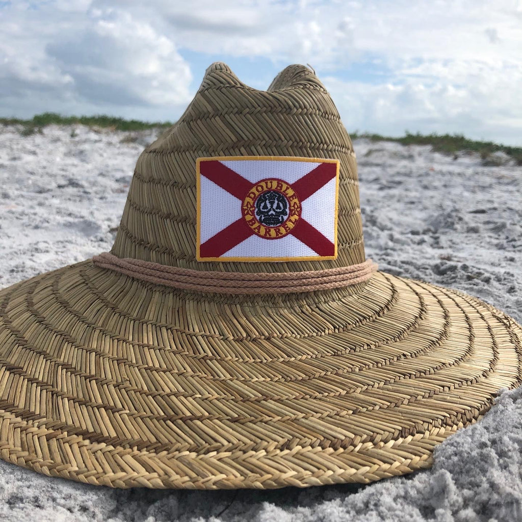 Double Barrel Florida Flag Lifeguard Hat (Straw)