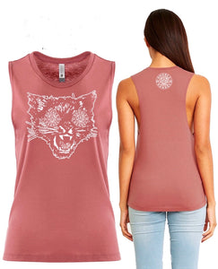 Womans PET THE KITTY muscle tee