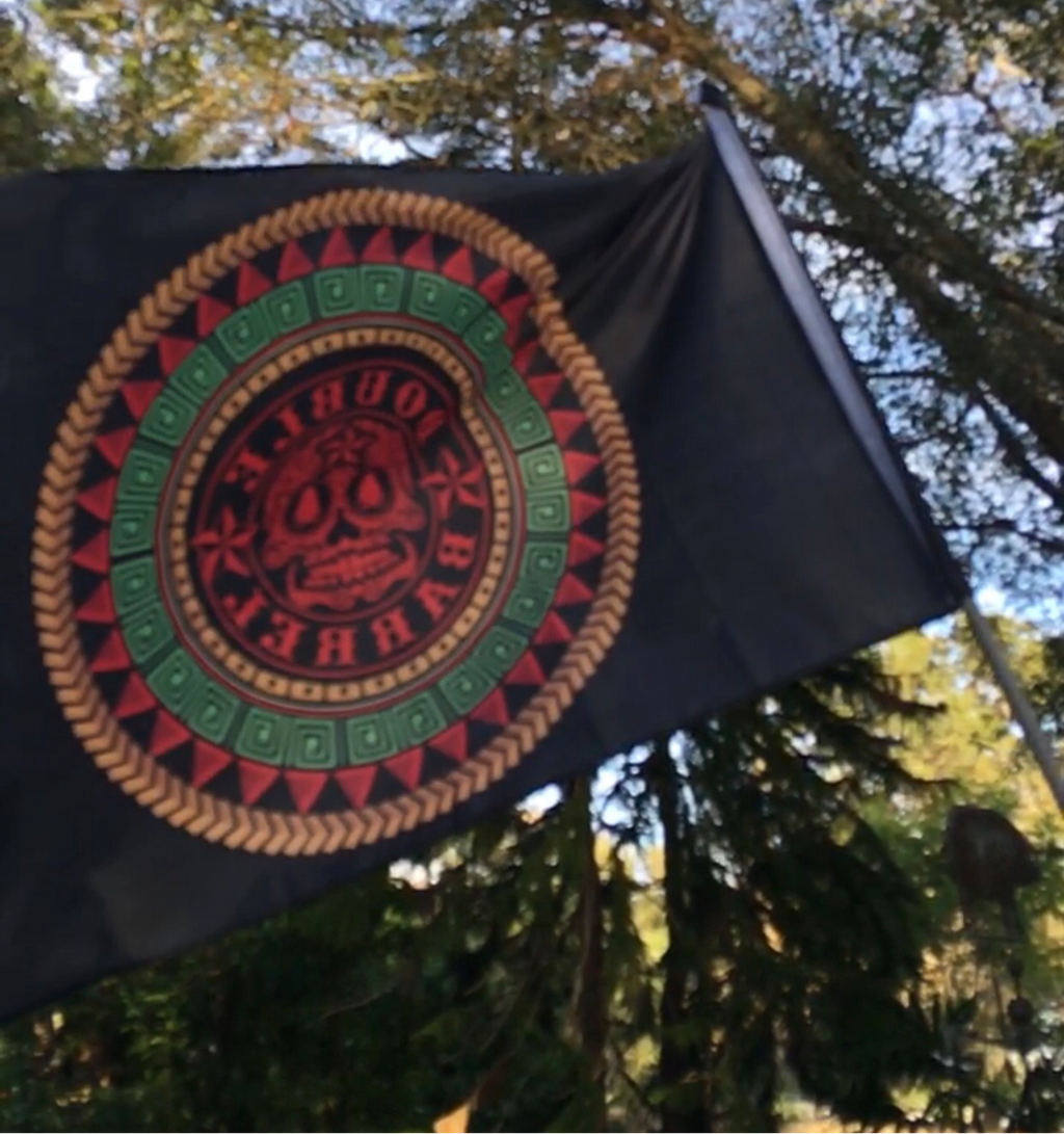Double Barrel Aztec Flag