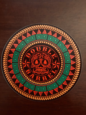 4 inch Aztec Sugar Skull Sticker