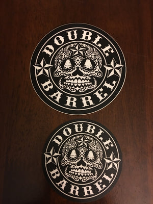 Sticker /Sugar Skull/ BLK/ Large 4inch