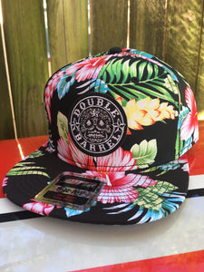 Double Barrel Classic Trucker Snapback Hat FLORAL
