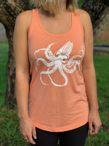 Womans Kraken Tank (racerback Orange)