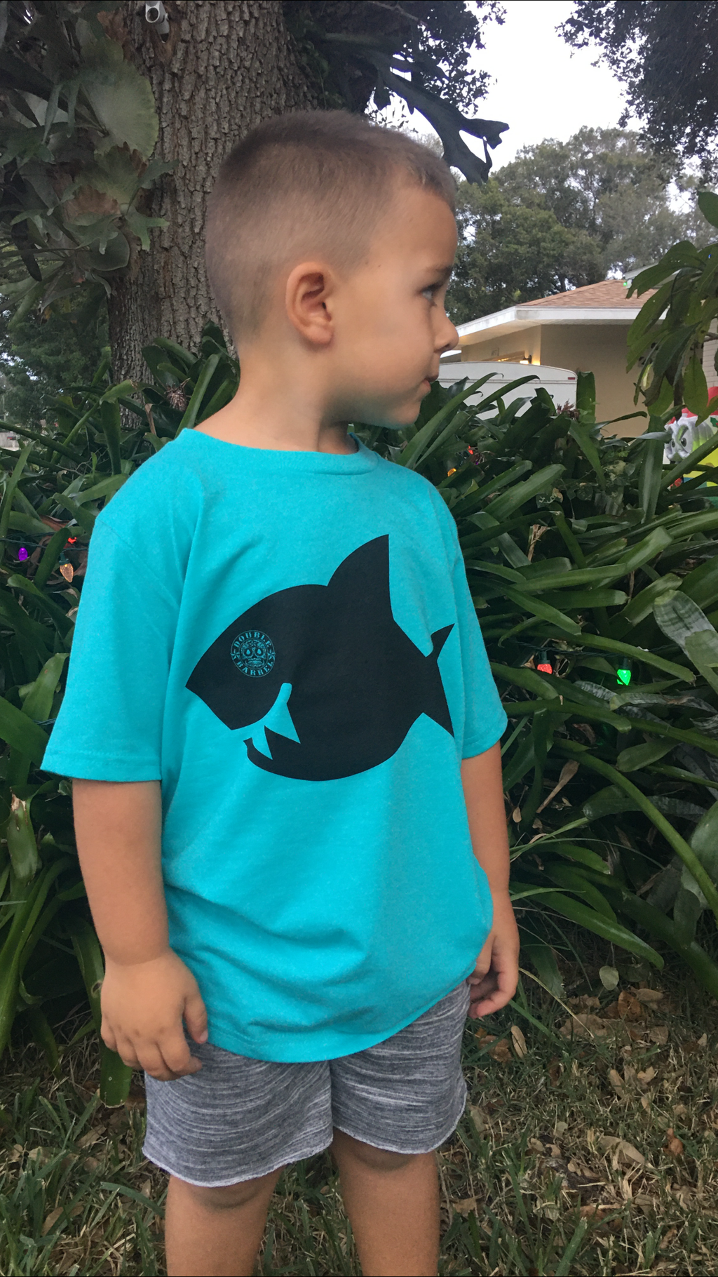 Kids Double Barrel Shark/ TURQUOISE