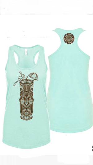 Womans Beach Break Tiki Tank (racerback Sea Foam)