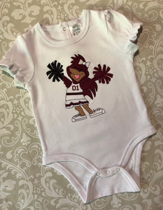 Baby Gamecock jumpsuit and shorts outfit