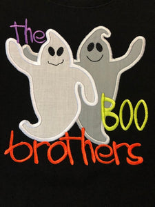 The Boo Brothers applique ghost halloween tee