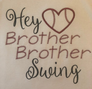 Brother Brother Swing baseball sister angel sleeve tank