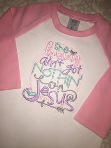 The Bunny ain't got nothin on Jesus easter raglan