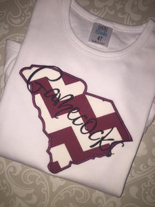 Gamecocks South Carolina applique tee