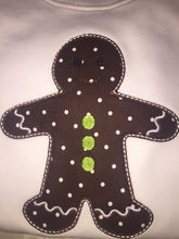 Applique Gingerbread boy Christmas tee