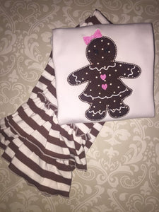 Gingerbread girl Christmas outfit or tee