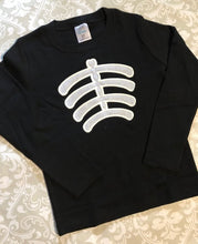 Glow in the dark skeleton tee
