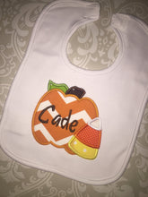 Fall pumpkin monogram baby gift