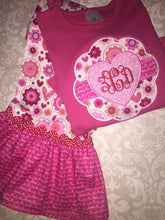 Applique Heart Monogrammed Valentine outfit