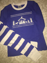 Faux Smocked Nativity Christmas PJs