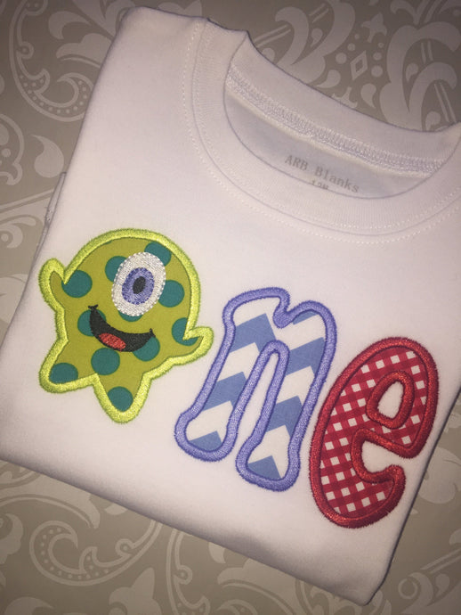 Monster first birthday tee