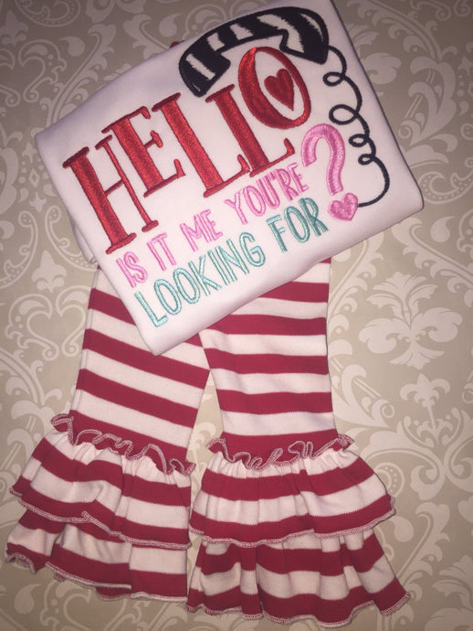 Hello is it me you're looking for Valentine outfit or tee