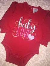 Baby Love Embroidered Valentine bodysuit