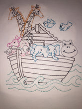 Noah'a ark embroidered baby gown
