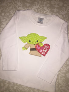 Yoda only one for me Valentine tee