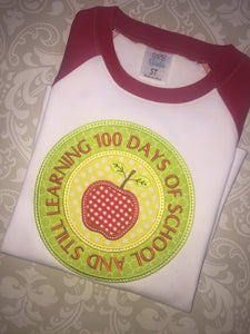 100 days of school raglan