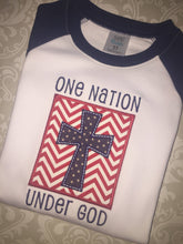 One Nation Under God Patiotic raglan