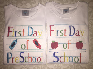 First day of school  tee