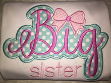 Applique Big Little Sister Raglan Sibling set