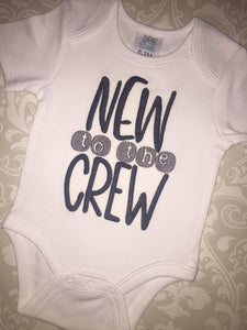 New to the crew baby body suit