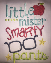 Little mister smarty pants raglan