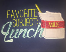 Favorite Subject is Lunch back to school tee