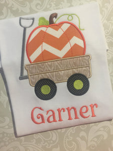 Monogram Pumpkin wagon tee