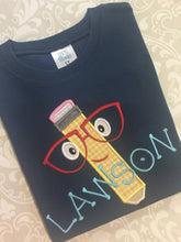 Monogram Applique Pencil School tee