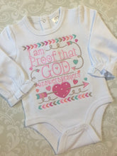 I am Proof God answers prayer baby bodysuit