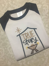 True Story Christmas raglan