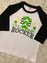 Little shamrocker St. Paddys raglan