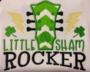Little shamrocker St. Pattys raglan