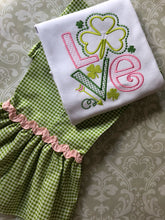 St Paddy's Day Love ruffle pants and tee outfit