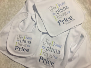 For I know the plans Christian baby boy gift