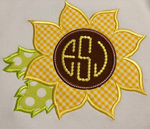Monogram applique Sunflower shorts set
