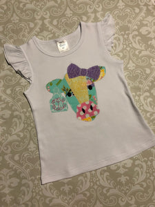Monogram Patchwork cow outfit